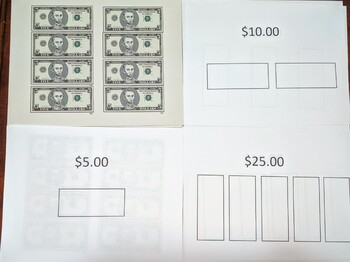 $5 Dollar Bill Cut and Paste