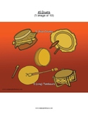 #5 Drums, Numbers, Animals, First Nations, Indigenous, Aboriginal