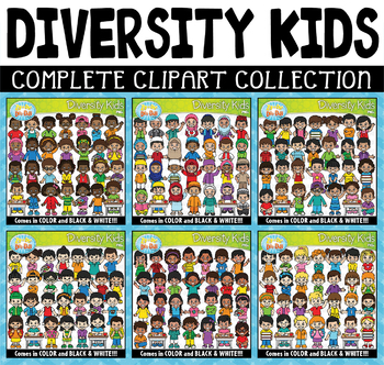Diversity Kids Clipart Mega Bundle {Zip-A-Dee-Doo-Dah Designs}
