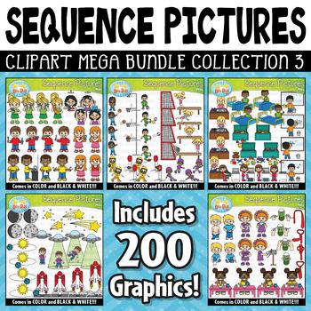 {FLASH DEAL} Sequence Action Pictures Clipart Mega Bundle Part 3 ($20.00 Value)