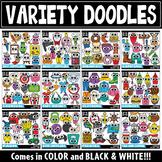 {$5 FLASH DEAL} Big Eyed Doodles Variety Clipart Mega Bundle 1 ($60 VALUE)