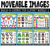 Build-A-Character Moveable Clipart Bundle 1 for Paperless Resources