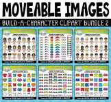Build-A-Character Moveable Clipart Bundle 2 for Paperless Resources