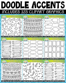 Doodle Accents Clipart Mega Bundle 1 {Zip-A-Dee-Doo-Dah Designs}