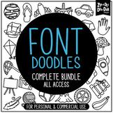 {FLASH DEAL} Doodle Fonts Complete Bundle {Zip-A-Dee-Doo-Dah Designs}