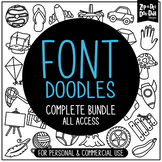 Doodle Fonts Complete Bundle {Zip-A-Dee-Doo-Dah Designs}