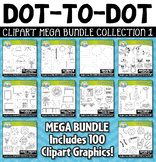 Dot-to-Dot / Connect the Dots Clipart Mega Bundle 1