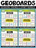 Seasons Geoboards Clipart Mega Bundle {Zip-A-Dee-Doo-Dah Designs}