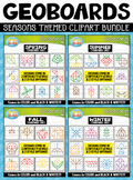 Seasons Geoboards Clipart Mega Bundle {Zip-A-Dee-Doo-Dah Designs}