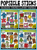 Seasons Popsicle Sticks Pictures Clipart Mega Bundle {Zip-
