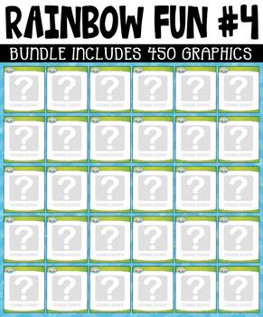Rainbow Fun Collection Clipart Bundle #4 (APRIL-JUNE)