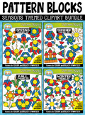 Seasons Puzzle Pattern Blocks Clipart Mega Bundle {Zip-A-D