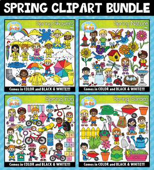 Spring Clipart Mega Bundle ($20.00 Value)