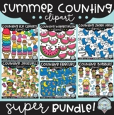 Summer Counting Clipart SUPER Bundle {$21 value!}