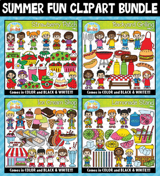 Summer Fun Clipart Mega Bundle ($20.00 Value)