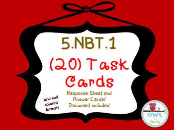 Representation of Digit Values (5.NBT.1) task cards