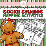 (((5 PAGES))) Christmas Social Studies Mapping Activity