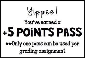 Editable +5 Points Pass
