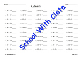 (÷5) Simple Division By Five Mental Maths / Drill Worksheets / Booklet
