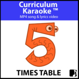 '5 TIMES TABLE' ~ Read, Sing & Learn Song Video l Distance