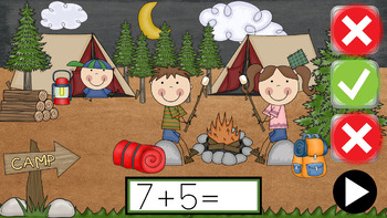 +5 The Camping Trip - PowerPoint Game