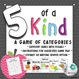 """5 of a Kind"" Category Game"