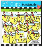 2D FUN Lemonade Shapes {P4 Clips Trioriginals Digital Clip Art}