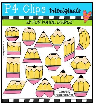 2D FUN Pencils {P4 Clips Trioriginals Digital Clip Art}