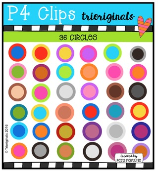 36 Circles  {P4 Clips Trioriginals Digital Clip Art}