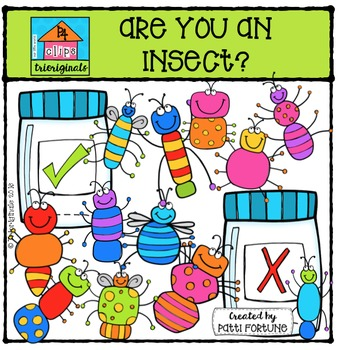 Are You An Insect? {P4 Clips Trioriginals Digital Clip Art}