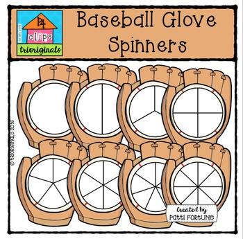 Baseball Glove Spinners {P4 Clips Trioriginals Digital Clip Art}