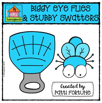 Biggy Eye Flies and Stubby Swatters {P4 Clips Trioriginals}
