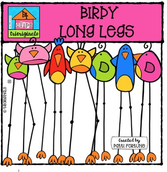 Birdy Long Legs {P4 Clips Trioriginals Digital Clip Art}