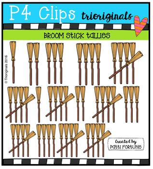 Broom Stick Tallies  {P4 Clips Trioriginals Digital Clip Art}