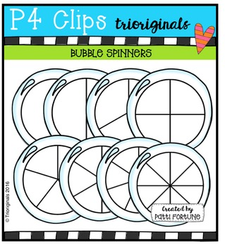 Bubble Spinners {P4 Clips Trioriginals Digital Clip Art}
