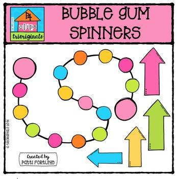 Bubblegum Spinners {P4 Clips Trioriginals Digital Clip Art}