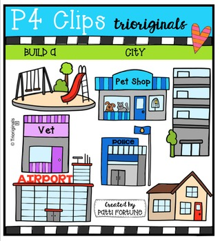 Build a City and Beyond {P4 Clips Trioriginals Digital Clip Art}