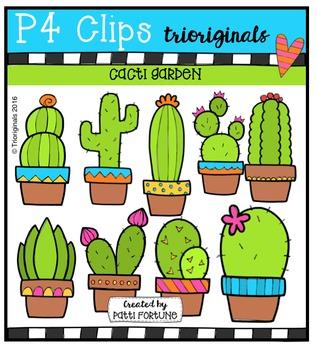 Cacti Garden {P4 Clips Trioriginals Digital Clip Art}