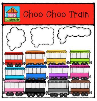 Choo Choo Train {P4 Clips Trioriginals Digital Clip Art}
