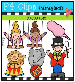Circus Time {P4 Clips Trioriginals Digital Clip Art}