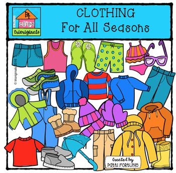 Clothing For All Seasons {P4 Clips Trioriginals Digital Clip Art}
