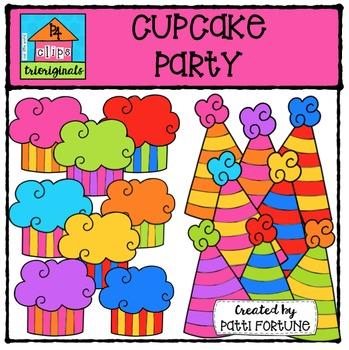 Cupcake Party {P4 Clips Trioriginals Digital Clip Art}