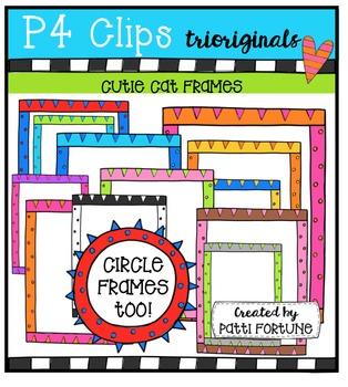 Cutie Cat Frames {P4 Clips Trioriginals Digital Clip Art}
