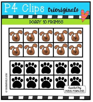 DOGGY 10 Frames {P4 Clips Trioriginals Digital Clip Art}