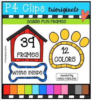 DOGGY Frames {P4 Clips Trioriginals Digital Clip Art}