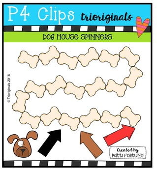 DOGGY House Spinners {P4 Clips Trioriginals Digital Clip Art}