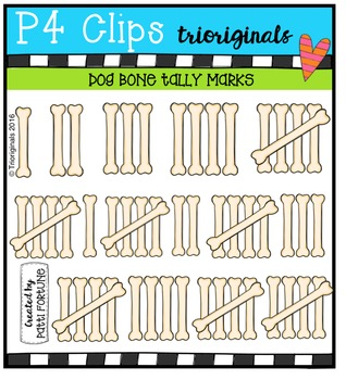 DOGGY Bone Tally Marks {P4 Clips Trioriginals Digital Clip Art}