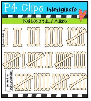 DOGGY Bone Tally Marks {P4 Clips Trioriginals Digital Clip Art}