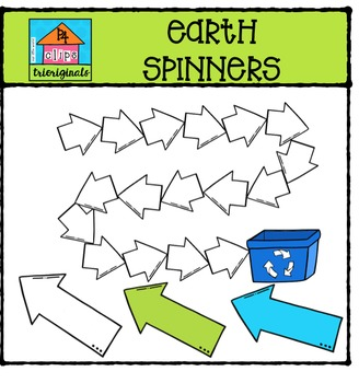 Earth Spinners {P4 Clips Trioriginals Digital Clip Art}