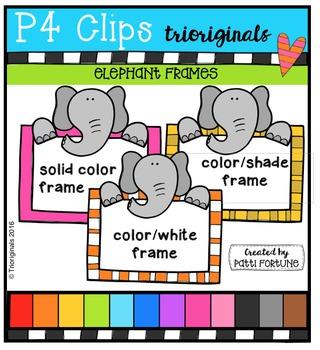 Elephant Frames  {P4 Clips Trioriginals Digital Clip Art}